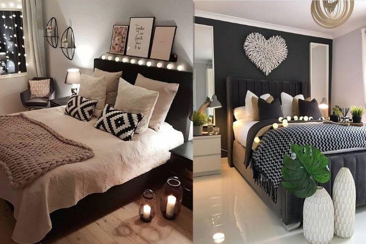 Спальня с множеством декора для визуала