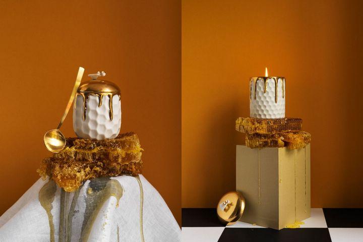 Домашний декор и сосуды в форме пчелиных сот
