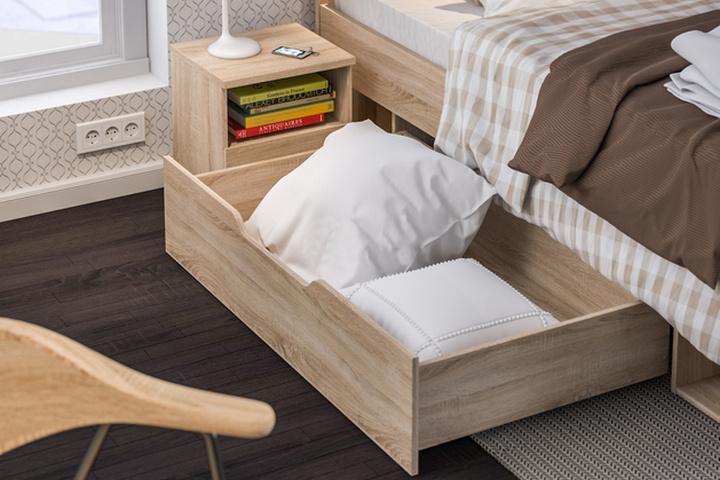 Хранение в ящиках под кроватью