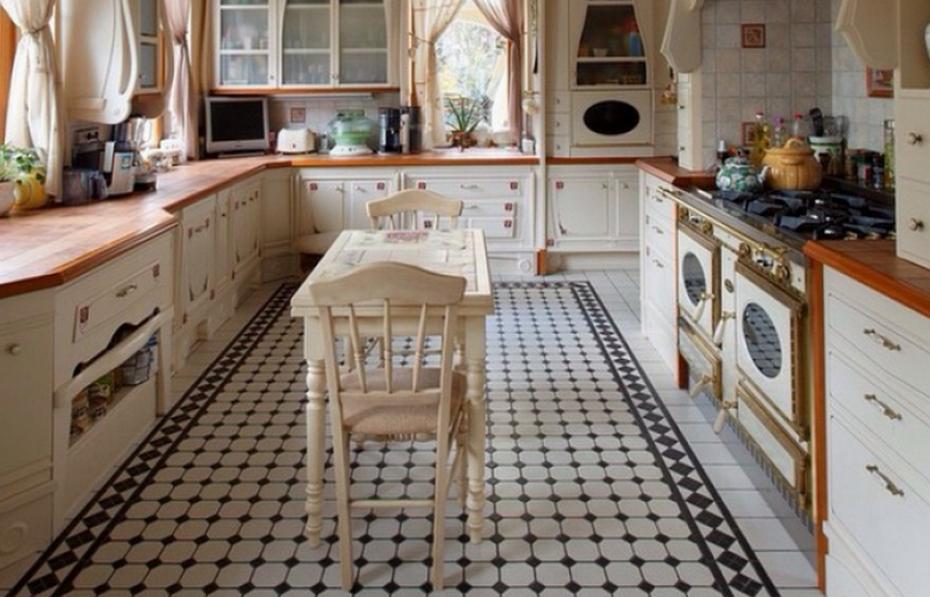 Плитка метлах на кухне