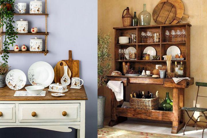 Хранение кухонных предметов в русском стиле