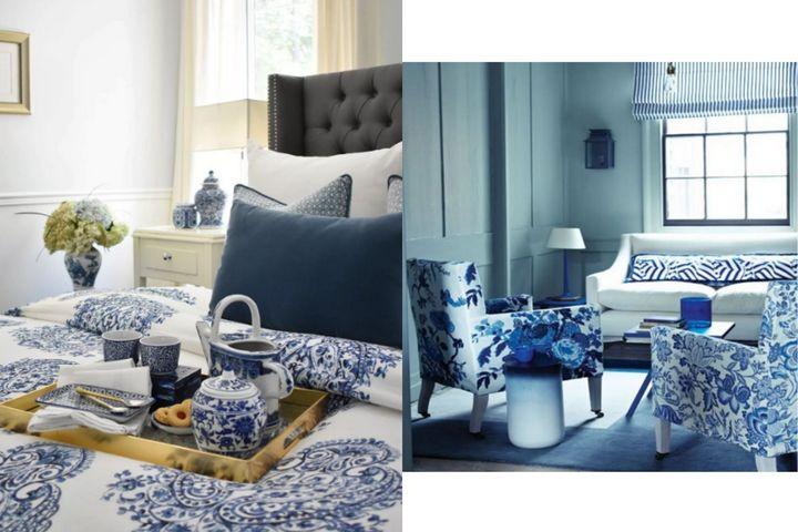 Традиционная гжель в деталях и мебели