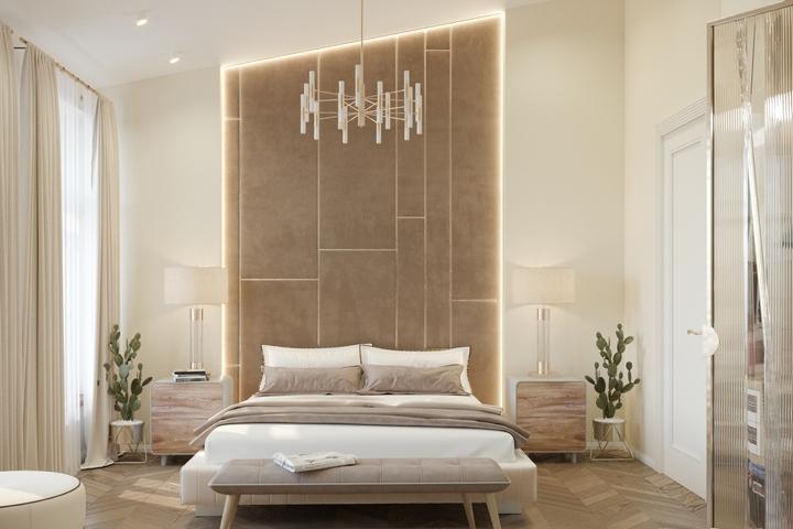 Интерьер спальни по авторскому проекту Remelle на Стремянной улице