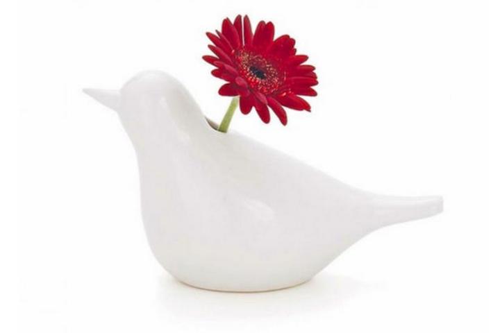Элегантная ваза в форме птицы