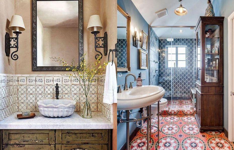 полезные советы, винтаж, ванная, санузел совмещенный, декор, принты, интерьер