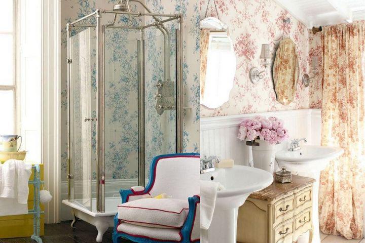 Романтичный принт с цветами и винтажная мебель