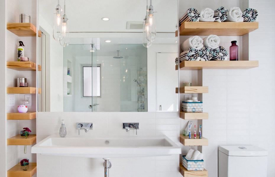 Ванная комната с продуманным хранением