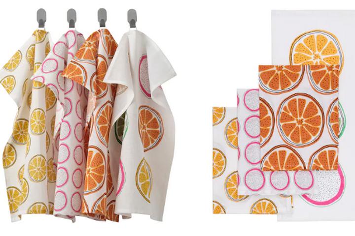 Кухонные полотенца в летнем стиле