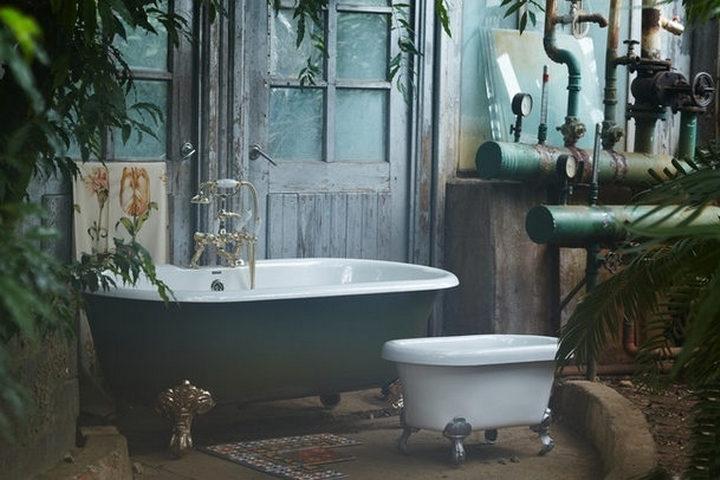 Дачный стиль ванной на природе