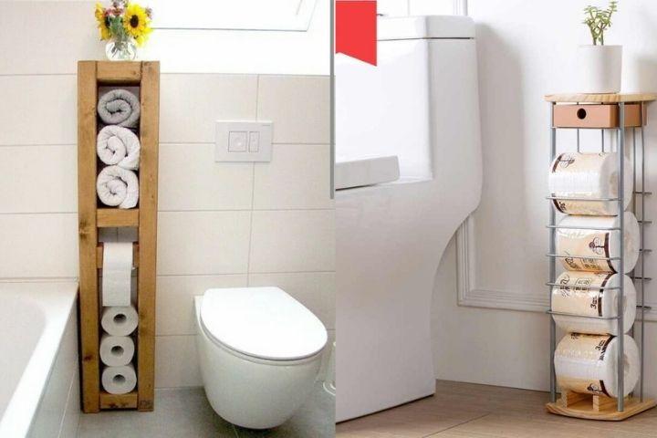 Специальное место для хранения запасов туалетной бумаги
