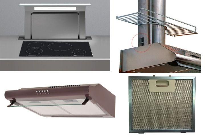 Вытяжки для кухни с фильтрами и дополнительными решетками