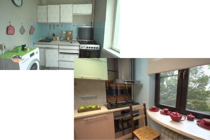 Кухня до-после