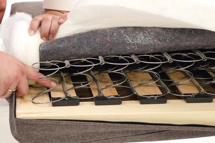 Место скрипа пружин в зависимом блоке