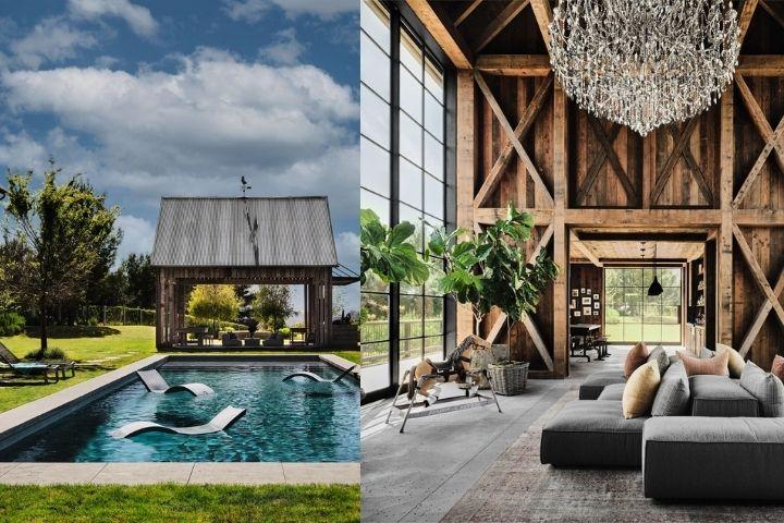 Внутренний двор и гостевой домик