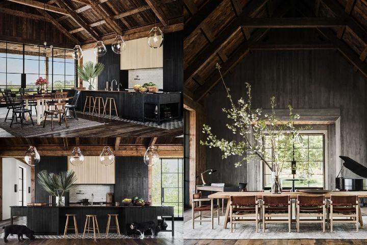 Кухня и зона столовой