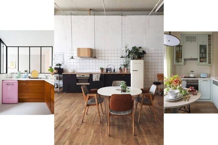 Яркие холодильники в скандинавском стиле