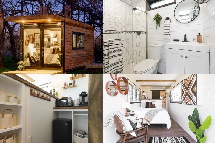 Маленький домик-контейнер в скандинавском стиле
