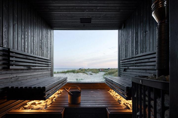 Сауна с панорамным односторонним окном