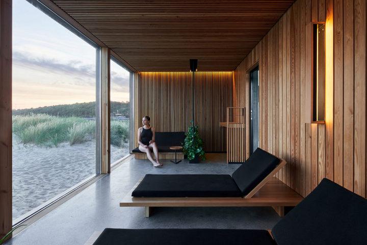 Интерьер комнаты отдыха с эко-стиле