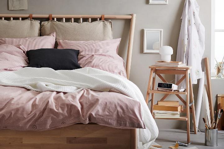 Розово-пепельное постельное белье