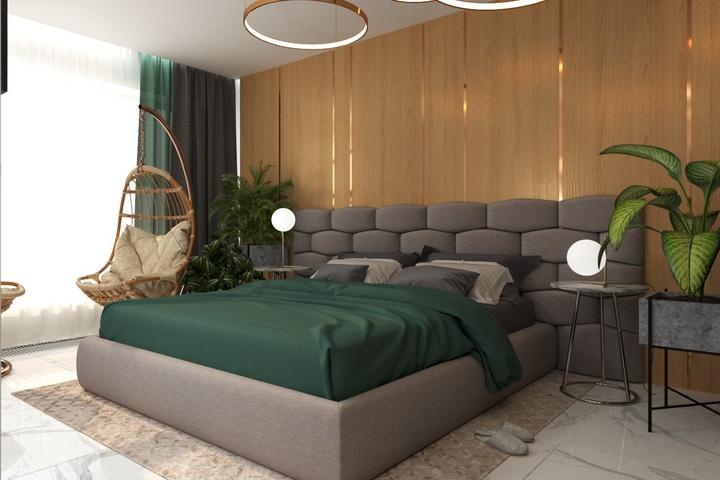 Спальня в природной цветовой гамме