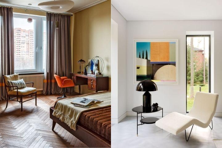 Яркие элементы и сочетания в стилистике модерна