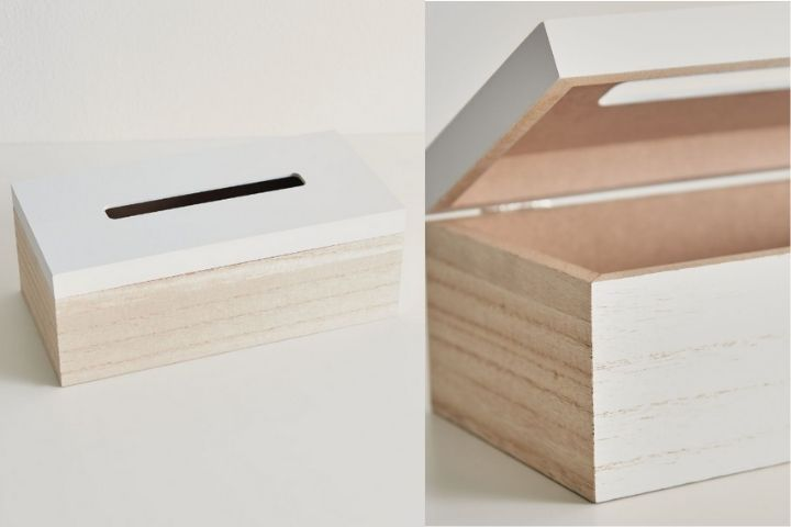 Коробка для салфеток из дерева и пластика