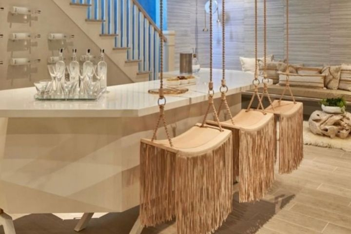 Подвесные стулья в стиле бохо с бахромой