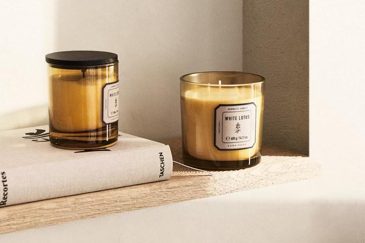 Арома-свеча со вкусом белого лотоса