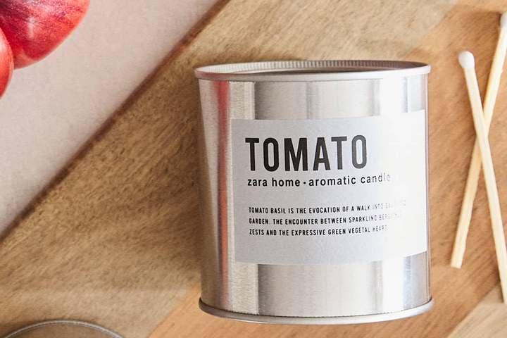 Ароматическая свеча с томатным запахом
