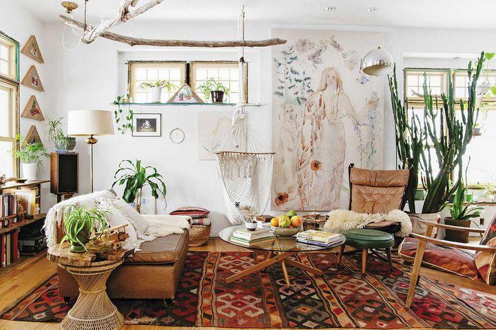 Живые комнатные растения в интерьере