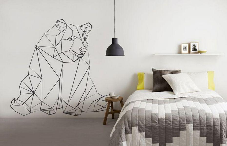 Спальня с геометричным декором