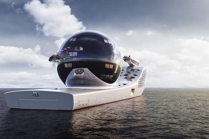 Сфера на поверхности яхты