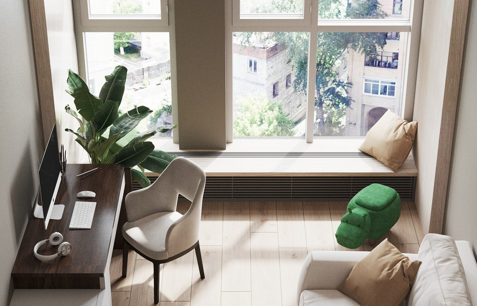 Кабинет с панорамным окном