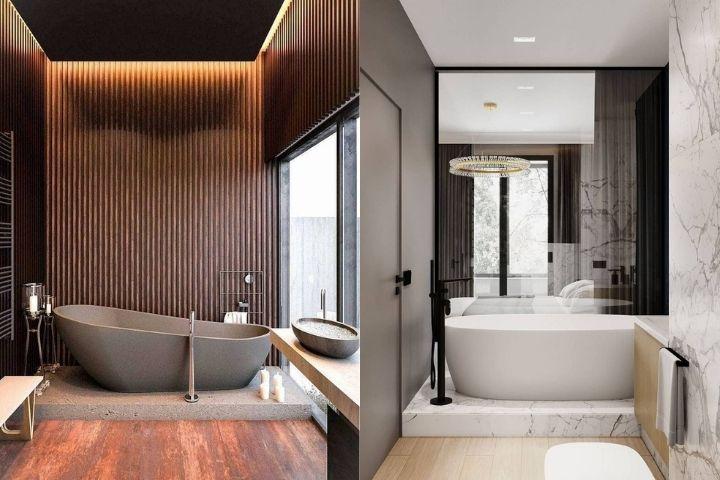 Ванны в разных санузлах и в разных дизайнах