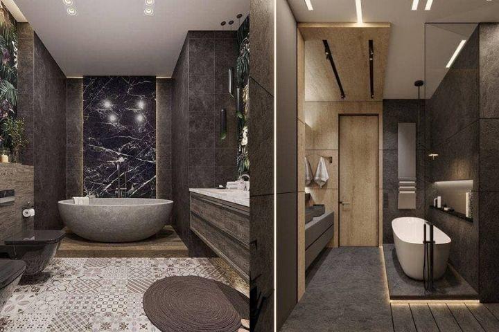 Округлые ванные в небольших санузлах