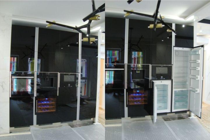 Кухонная колонна с встраиваемой техникой
