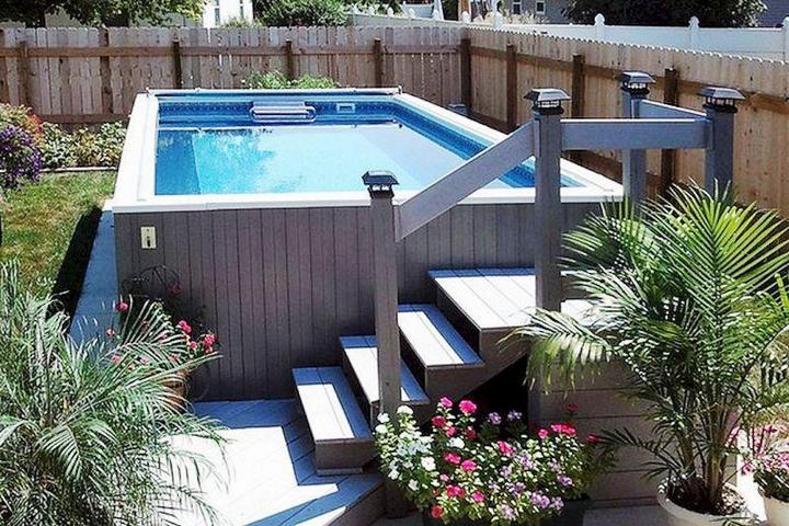 Простая обрешетка бассейна