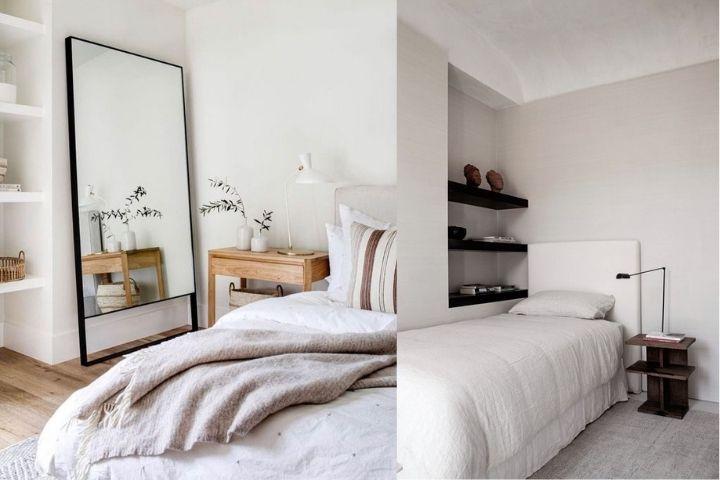 Уютные спальни с минимальным количеством мебели