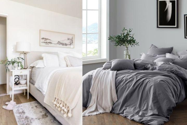 Уютная спальня с качественным постельным бельем