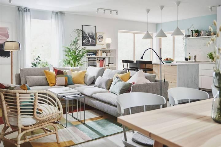 Мебель из ИКЕА в интерьере гостиной