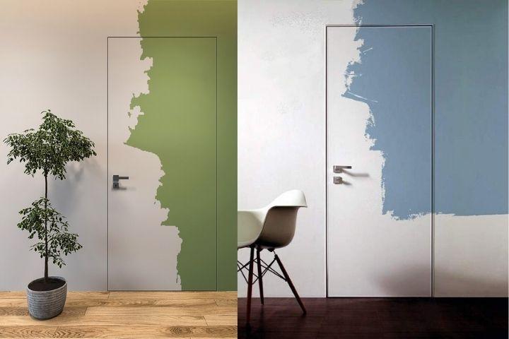 Двери-невидимки в ярким акцентом