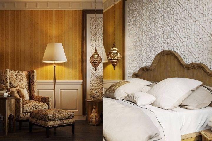 Спальня в Марокканском стиле в светлых тонах