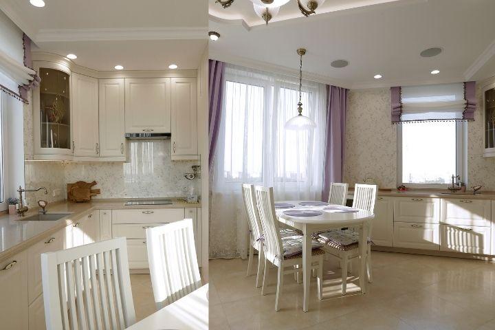 Освещение кухни и столовой зоны
