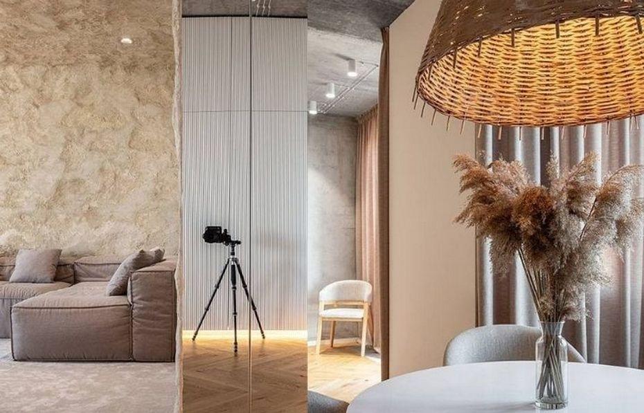 Современная квартира с пещерными мотивами