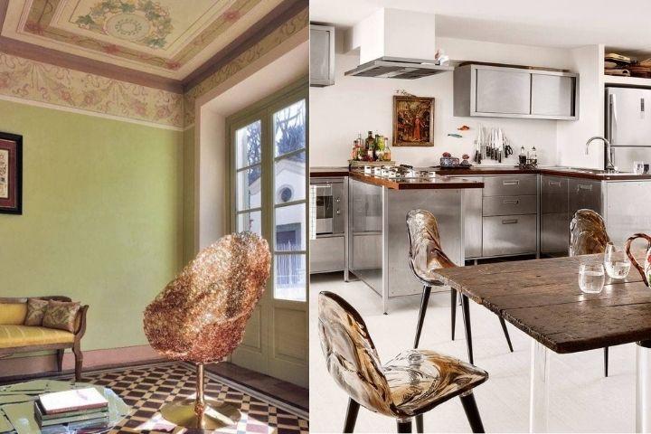Прозрачные стулья в современном дизайне