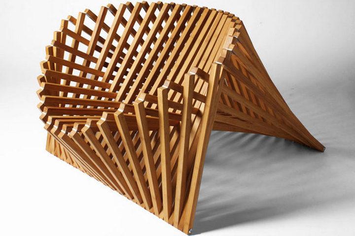 Кинематическое кресло для интерьера