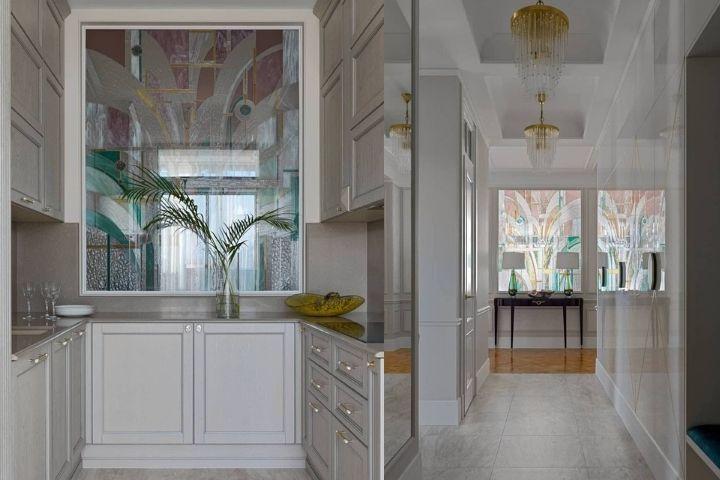 Витраж со стороны кухни и коридора