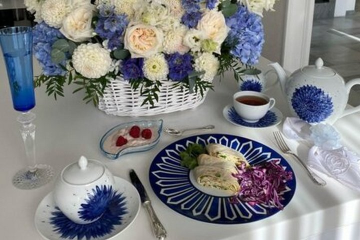 Оттенки синего и голубого в стиле Прованс