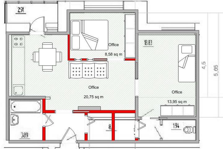 Планировка квартиры без карты перемещений